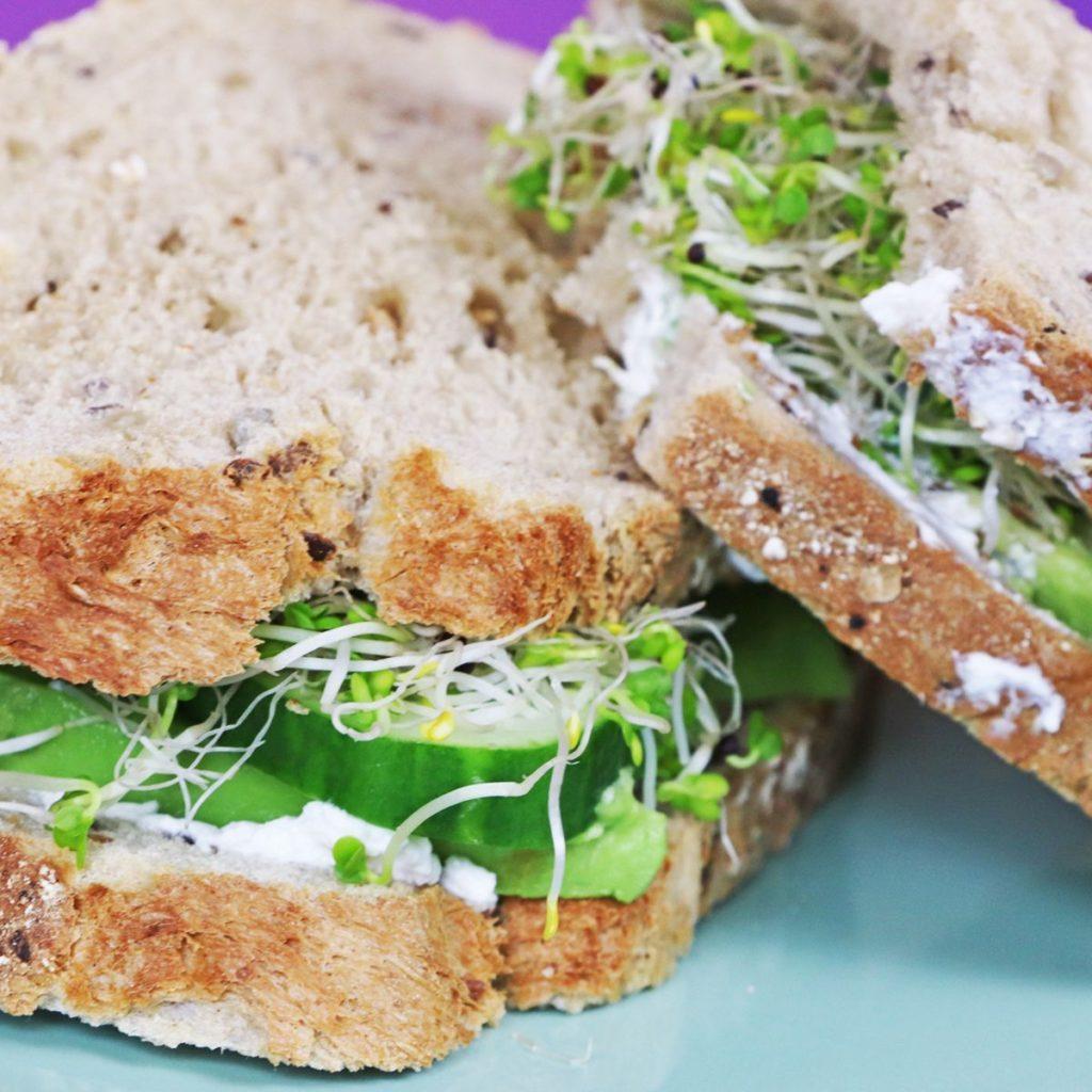 Sandwich met geitenkaas